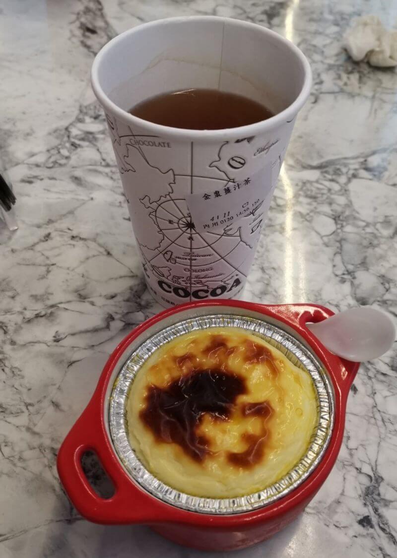 乳酪塔+金棗薑汁茶