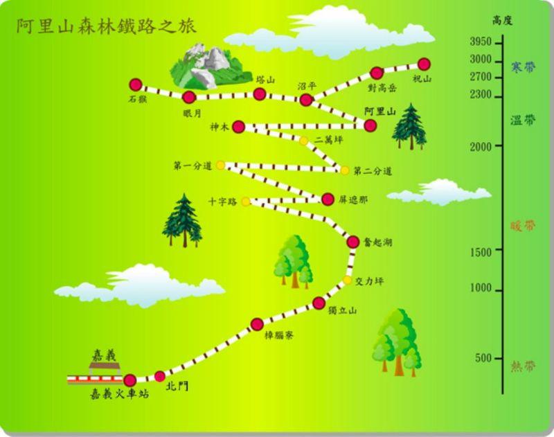阿里山森林圖