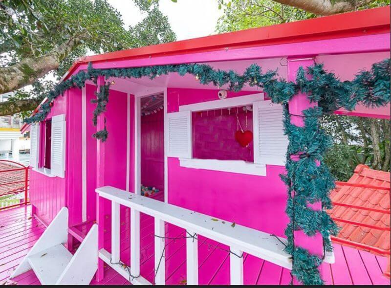 兔子迷宮粉紅色小屋